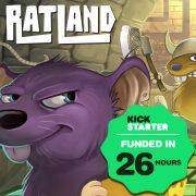 """""""RatLand"""" de Eclipse Editorial se funda en Kickstarter en poco más de 24 horas"""